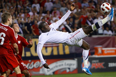 US verses poland friendly soccer match by Chicago sports photographer John Gress