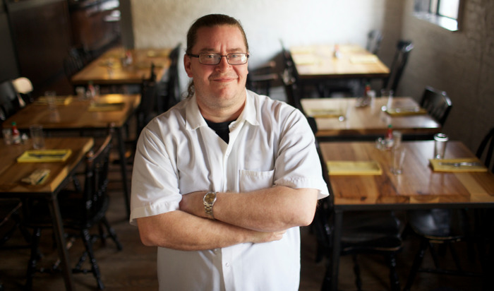 Longman & Eagle Chef Jared Wentworth poses in Chicago on October 31, 2012.