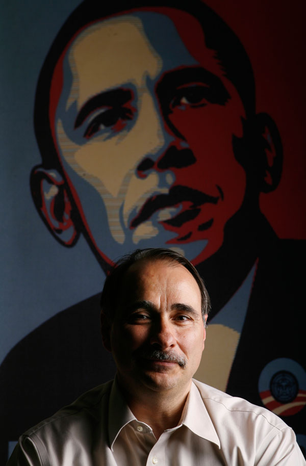 Barack Obama strategist David Axelrod poses in Chicago April 25, 2008. John Gress/for The Washington Post