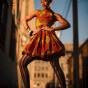 Chicago photographer captures black model in alley headshot photoshoot