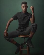 Black male model portfolio photoshot in Chicago