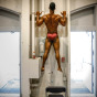 Chicago sports photography of body builder Chet Pourciau in Evanston Illinois