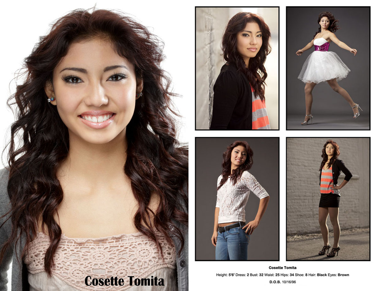 Chicago latina model compcard