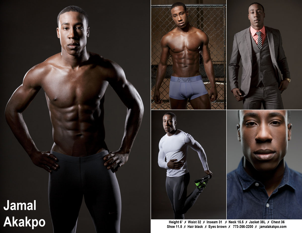 Chicago Compcard Photographer African american fitness model