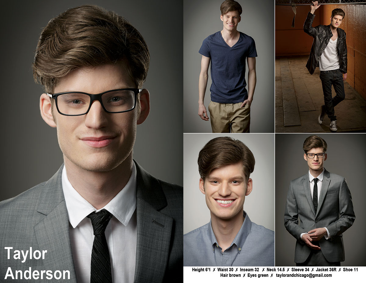 Chicago Headshot Photography: Model Taylor Anderson's Compcard