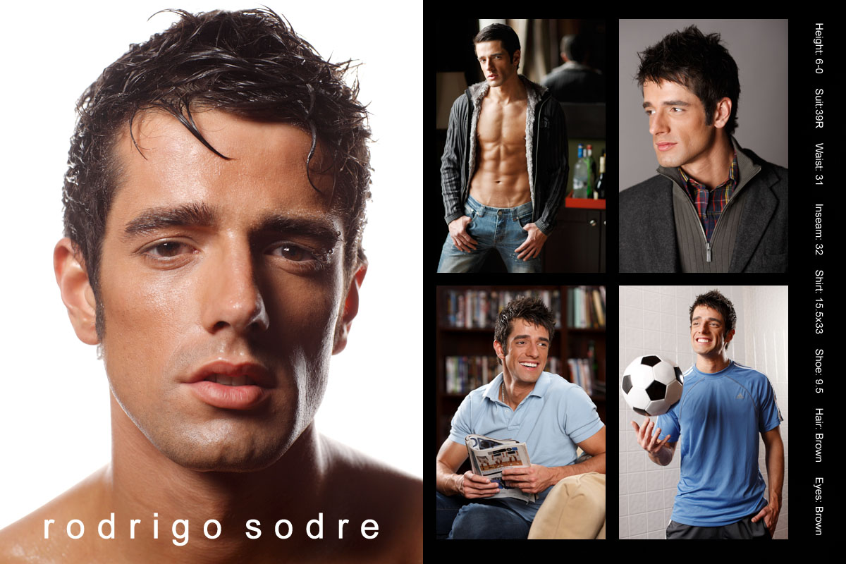 Chicago Latino male model compcard