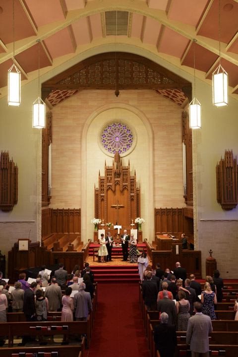 Illinois LGBT Wedding Photographer captures church wedding