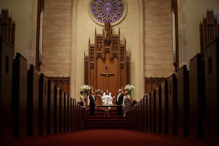 Church wedding in Chicago by Illinois LGBT Wedding Photographer