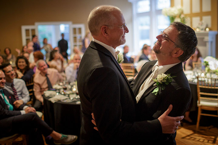 first dance captured by Illinois LGBT Wedding Photographer