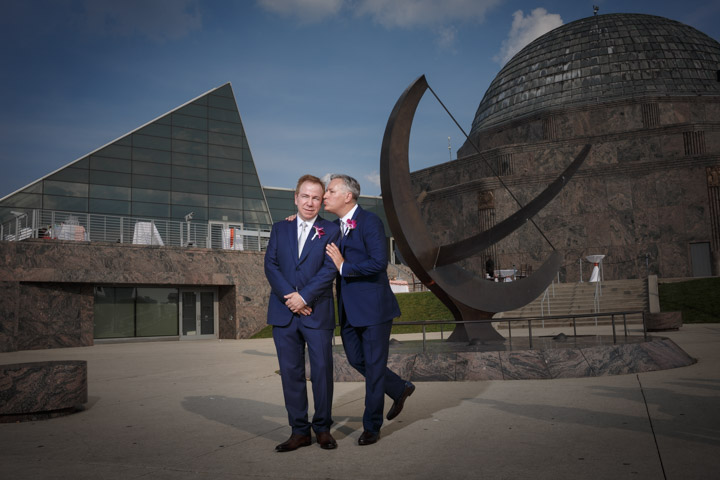protrait of Gay Wedding Photography Chicago
