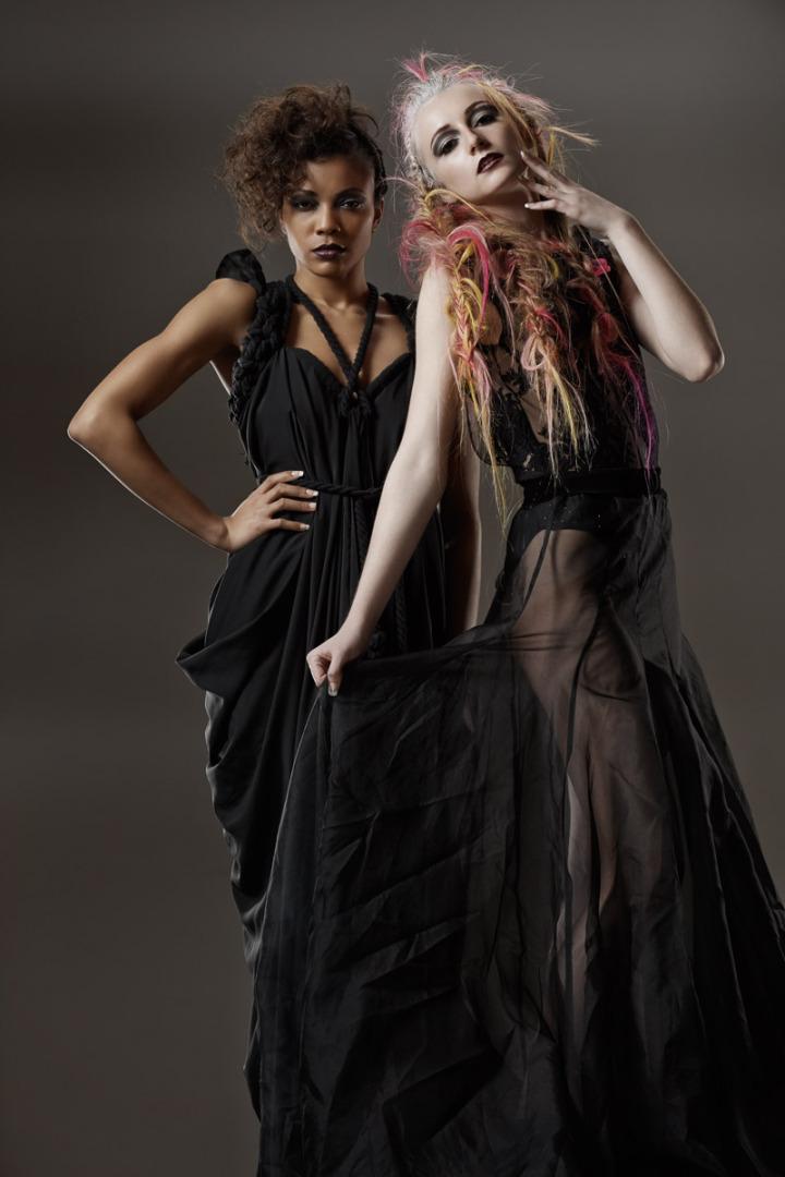 female hair models pose for Chicago fashion photographer John Gress
