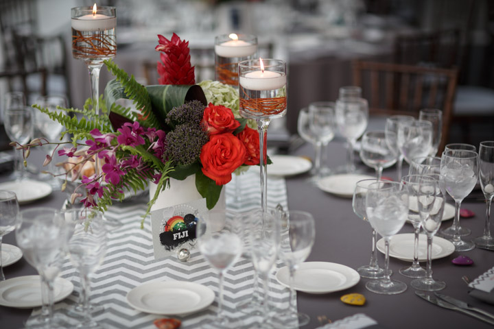Photography of a table setting at a gay wedding in Chicago