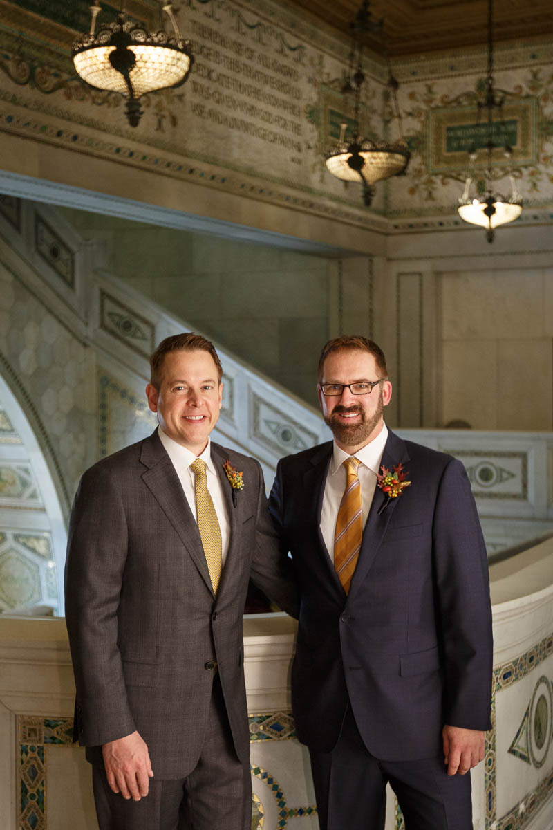 portrait Chicago same-sex wedding photography
