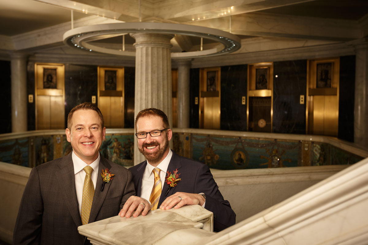 wedding portrait Chicago same-sex wedding photography