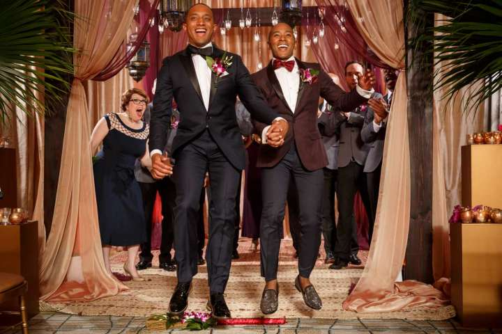 Evanston Gay Wedding Photographer: Ramon & Cecil Jumping the broom