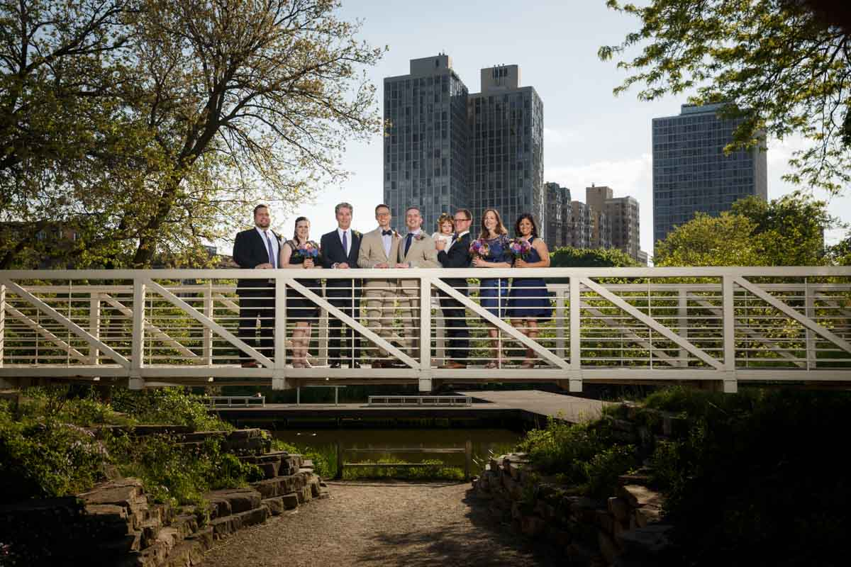 Illinois LGBT Wedding Photography wedding party portrait at the Peggy Notebaert Nature Museum in Chicago