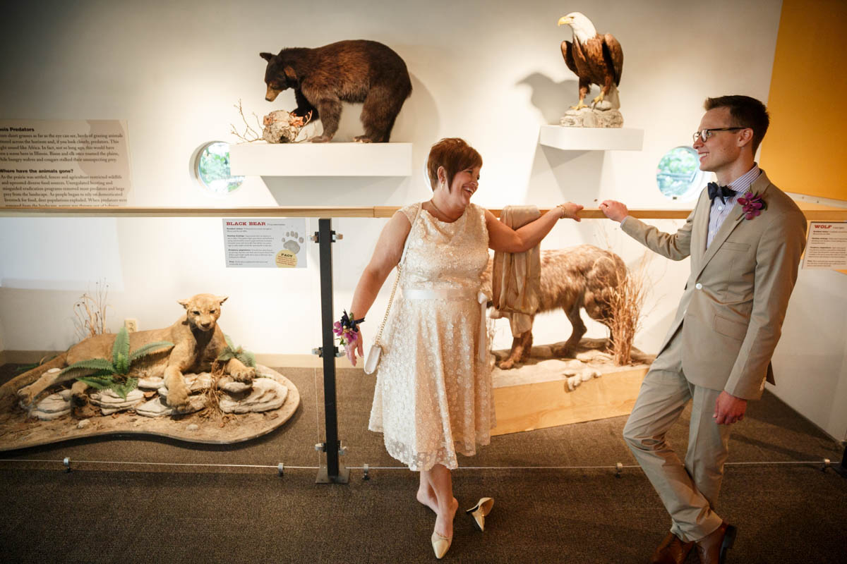 Illinois LGBT Wedding Photography wedding at the Peggy Notebaert Nature Museum in Chicago