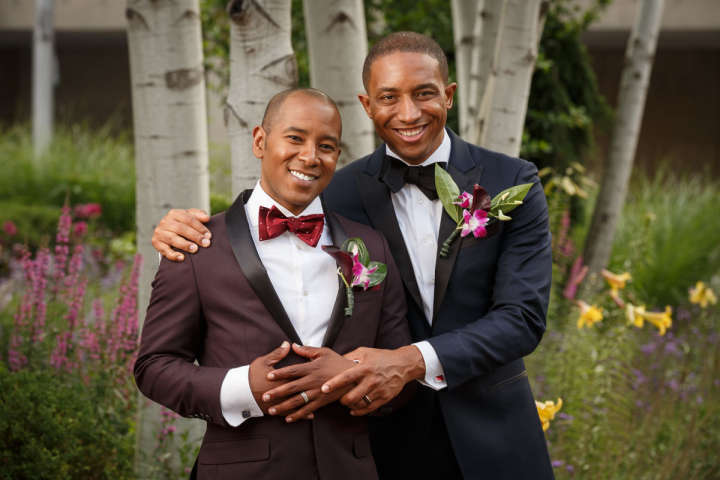 African American Gay wedding portrait Evanston Wedding Photographer