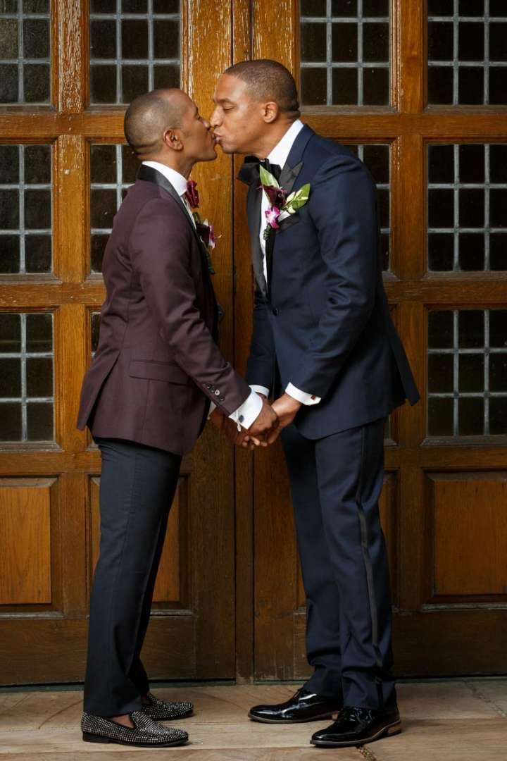 African American Gay wedding portrait Evanston Wedding Photography