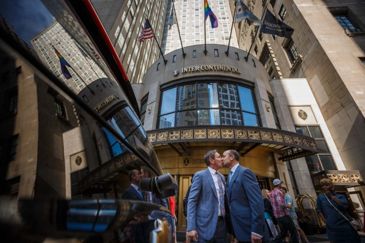 Gay wedding at intercontinental hotel in Chicago