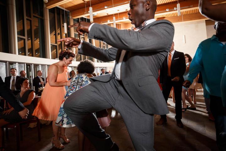 Chicago gay wedding photographer dancing