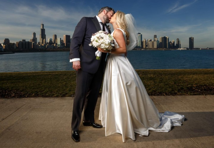 Chicago wedding photographer Matt & Rebecca at the Union League Club
