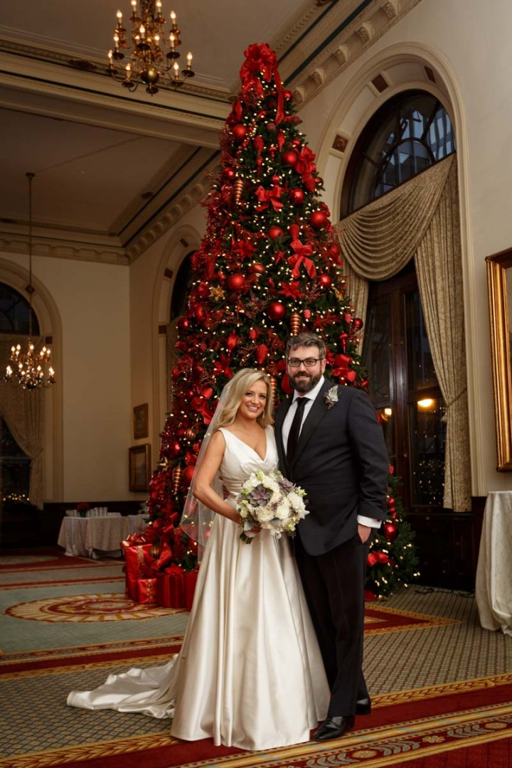 Chicago wedding photographer christmas formal portrait