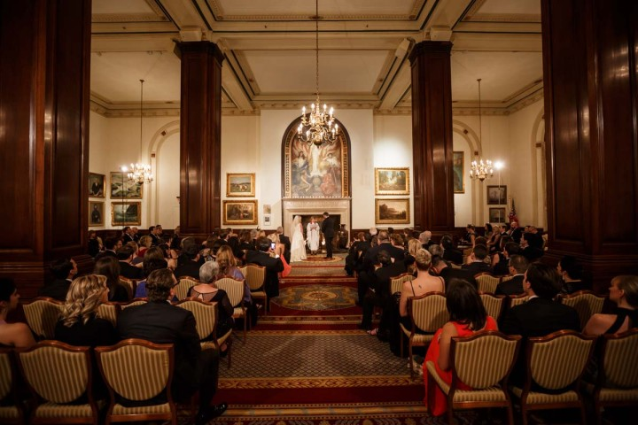 Chicago wedding photographer at union league club photography