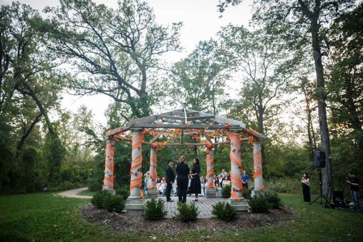 lgbt wedding at the Redfield Estate at the grove in Glenview Illinois