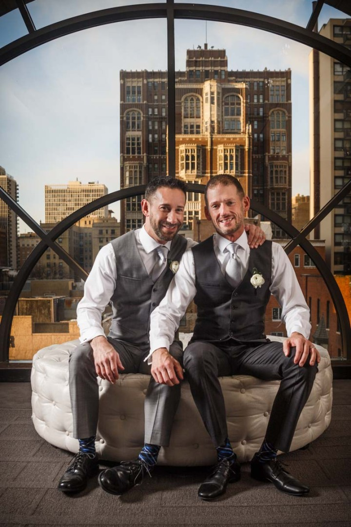 WEDDING PORTRAIT PHOTOGRAPHY BY CHICAGO GAY WEDDING PHOTOJOURNALIST
