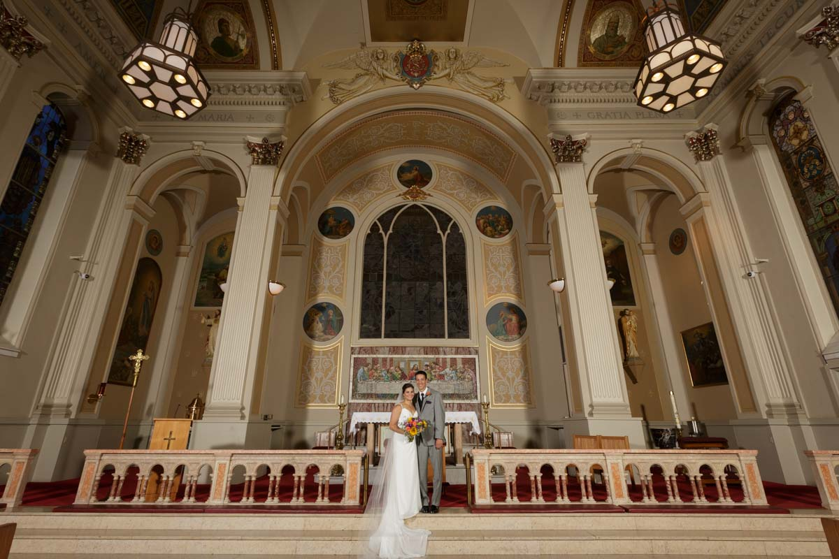 Chicago wedding photography assumption catholic church by photographer John Gress