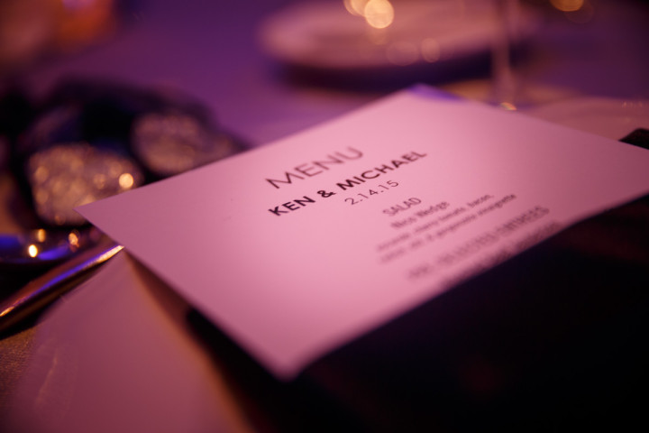 chicago gay wedding place card