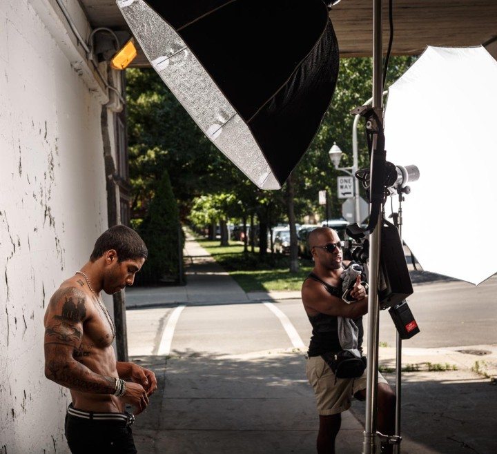Fitness Model Photography behind the scenes with Tristin Johnson