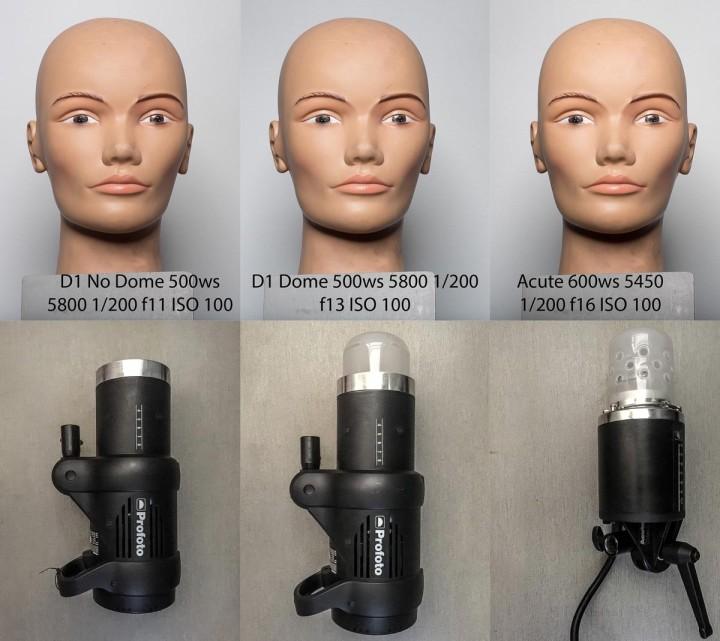 Profoto D1 500 AIR Monolight acute2 dome color balance test