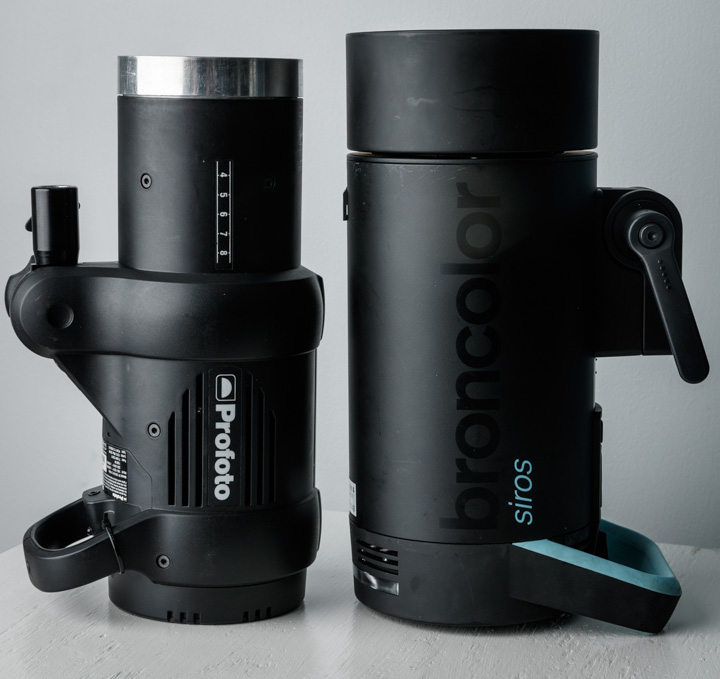 Broncolor Siros 800S and Profoto D1 Flash