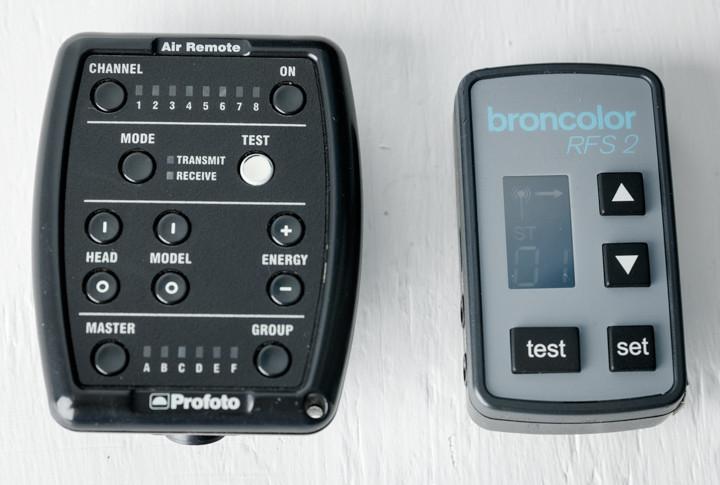 Brocolor 2.1 remote control compared to the Profoto Air Remote