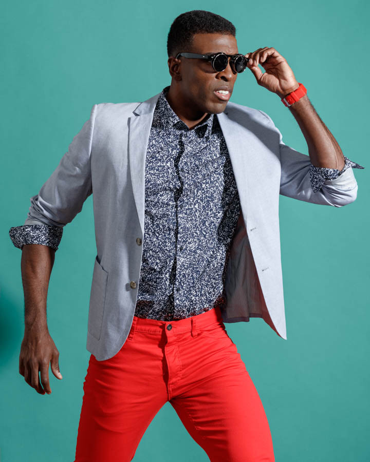 Chicago mens fashion model photoshoot with male model kenneth hill