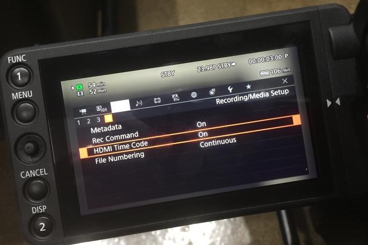 Setting up the Canon C200 to trihgger the Atomos Shogun