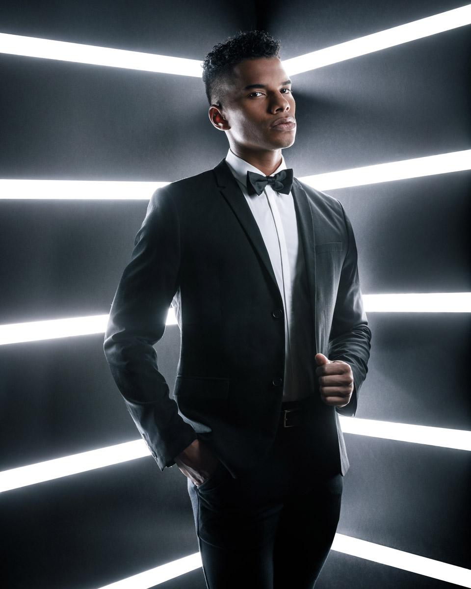 Chicago fashion photographer tuxedo