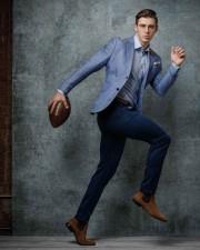 Chicago fashion photographer athlete GQ portrait