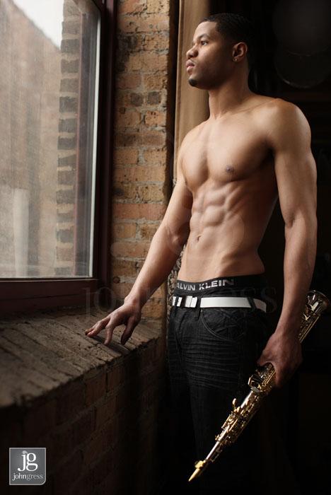Saxaphonist Album Cover Photoshoot: Jafar Idris by Chicago headshot photographer