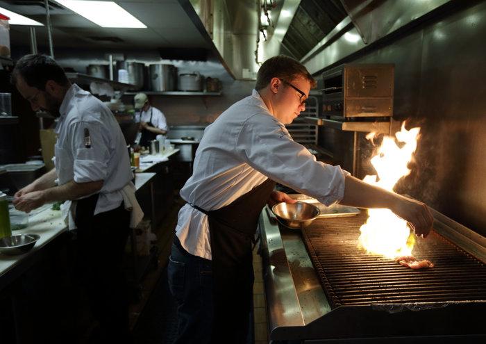 Chicago foor photography of Chef Joe Doren