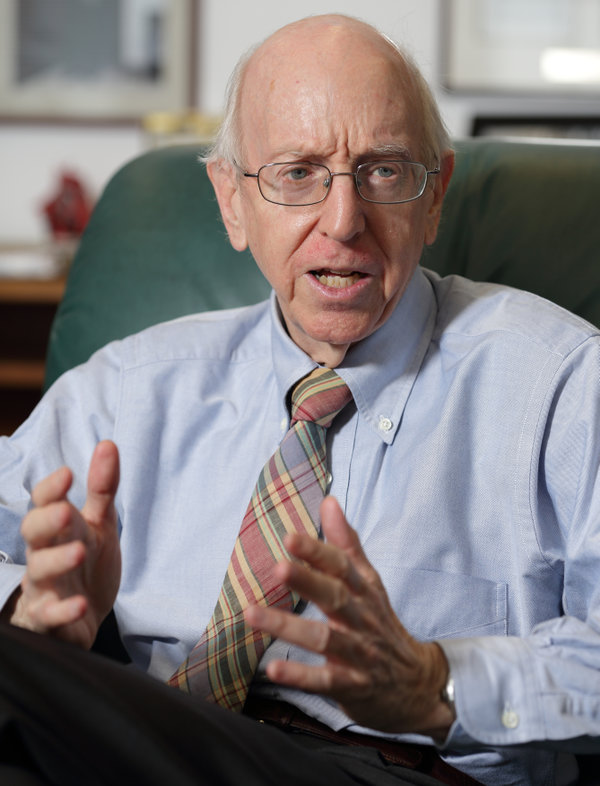 Federal Judge Richard Posner speaks during an interview in his Chambers in Chicago, July 2, 2012. REUTERS/John Gress