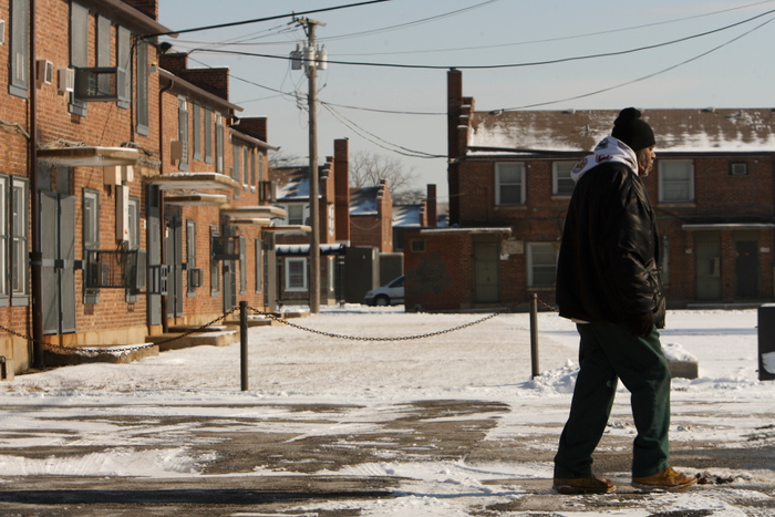 Altgeld Gardens housing projects, where Barack Obama worked as a community organizer, is seen in Chicago January 8, 2009. John Gress/ for Le Pelerin