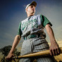 May 4, 2004 Portrait of Illiana Christian high school baseball star Kurt Williams in Lansing, Illinois by Chicago Sports Photographer John Gress
