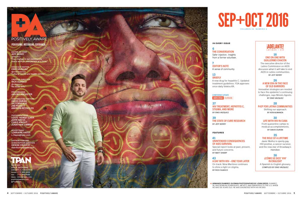 Chicago magazine photographer captures Armando Ramierez-Guzman for Positivly Aware in Chicago
