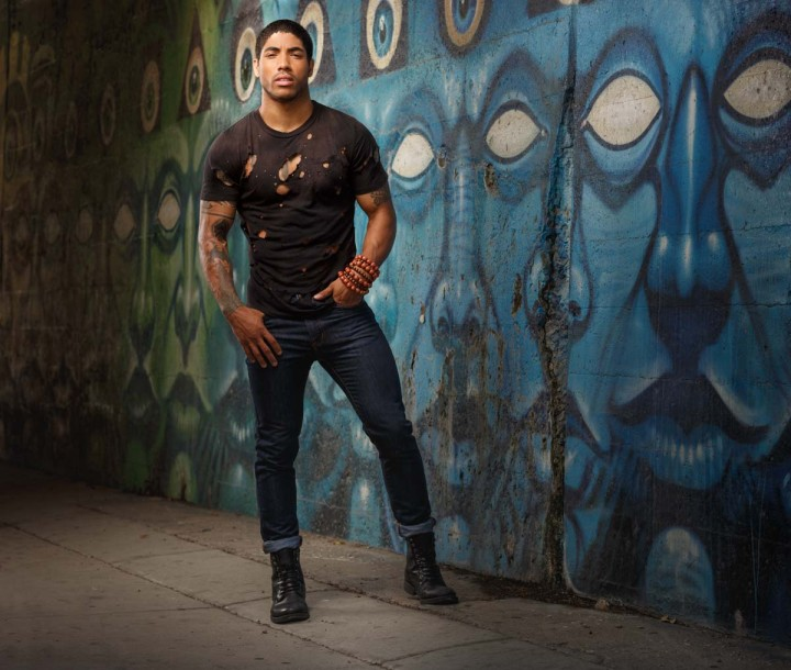 Chicago fashion model Tristian Johnson by Photographer John Gress in Rogers Park