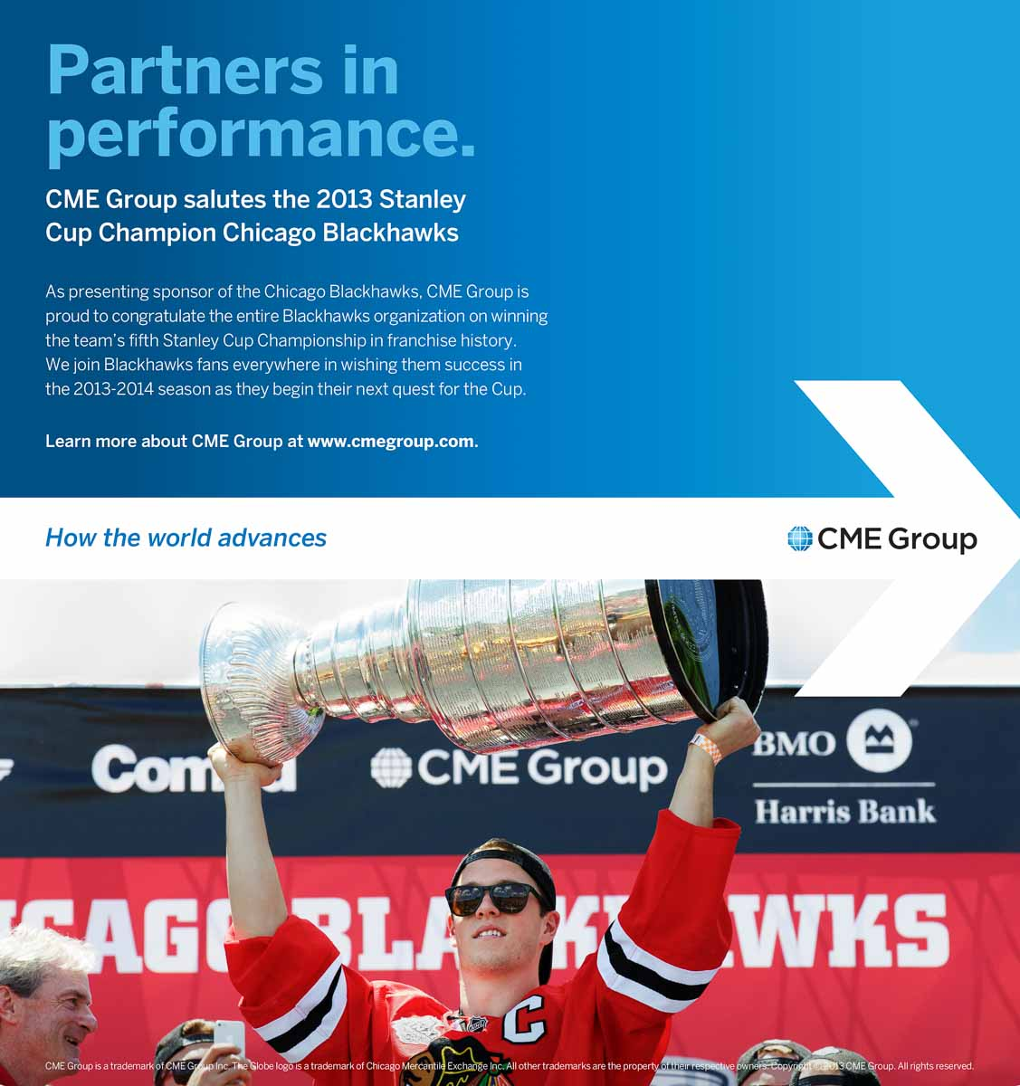 Chicago sports advertising photographer: CME Chicago Blackhawks ads Jonathan Towes