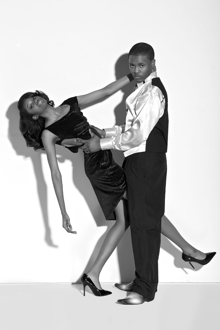 &, african american, and, B&W, black, Chicago, dress, fashion, headshot, Modeling, models, photographer, studio, suit, white