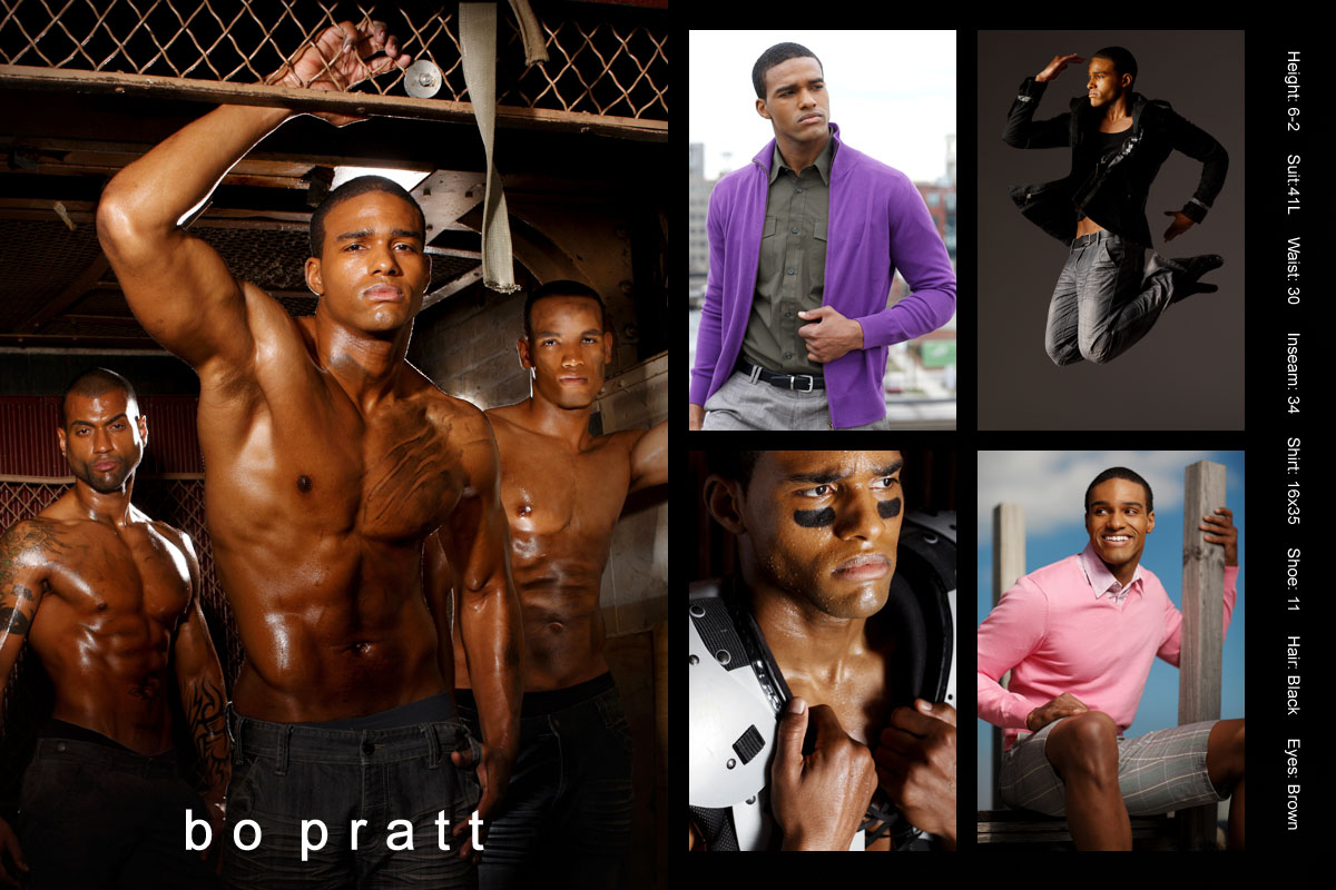 African american male model compcard